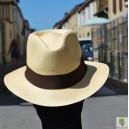 Chapeau Panama havane AVOCAT