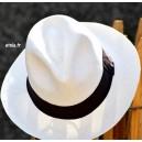 Chapeau PANAMA Blanc borsalino unisexe